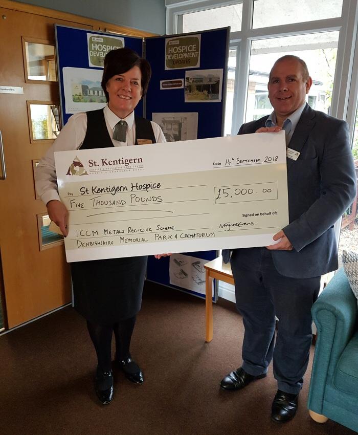 St Kentigern Hospice Cheque Presentation 2018