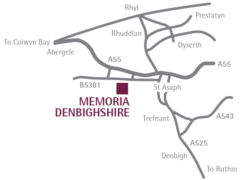 Denbighshire Location Map